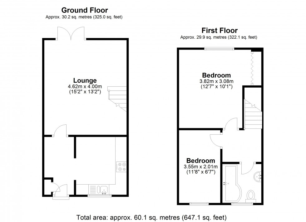 Floorplan for Bowers Close, Guildford